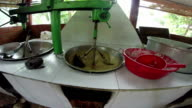 Coconut candy authentic forest village factory traditional mixing machine video