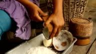 Coconut milk making video