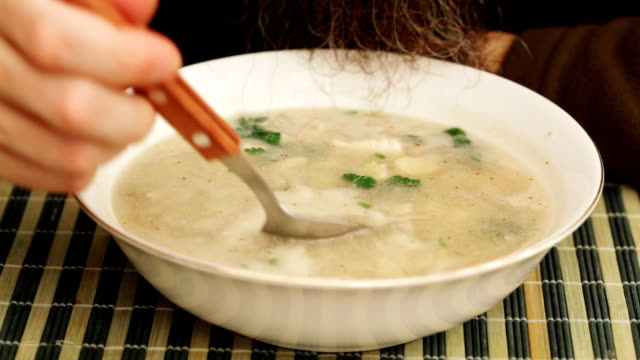 Coconut soup with chicken meat video