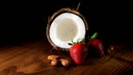coconut with strawberries and nuts video
