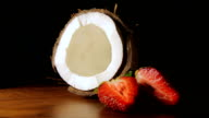 coconut with strawberries video