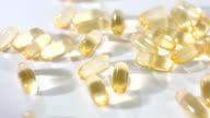 Cod liver oils supplement organic omega-3 close-up video