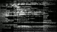 HTML Code On Black Background Seamless Loop video