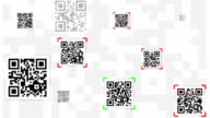 QR Code Scanning Concept Animation - LOOPABLE video
