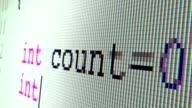 C++ code writing (close up) video