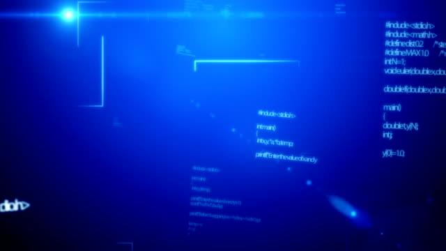 Coding Data Blue video