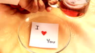 Coffee and i love you. video
