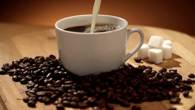 Coffee and milk video