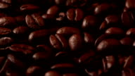 Coffee Beans and Sackcloth. Macro video