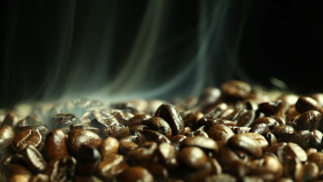 Coffee beans and steam video