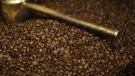Coffee Beans Cooling in Roaster Tray video