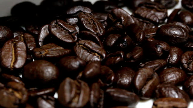 coffee beans dolly shot video