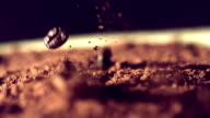 Coffee beans falling down video
