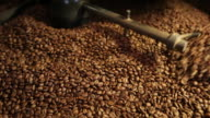 Coffee beans in a roaster video