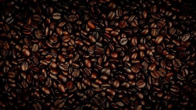 Coffee Beans Rotating Overhead Shot video