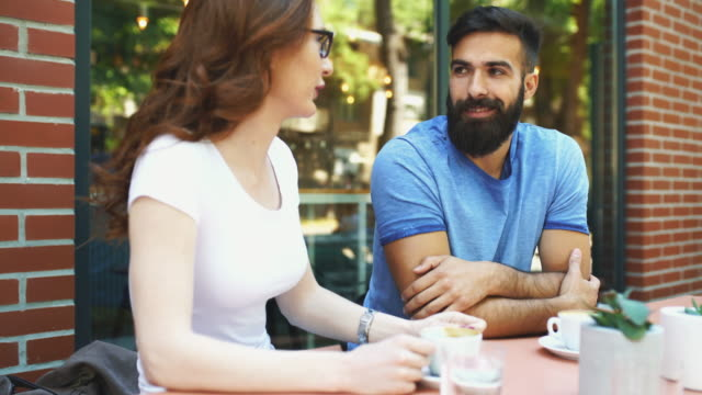 Coffee break conversation. video