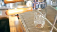 Coffee concept , Coffee drop to a cup from coffee machine , 4k(UHD) video