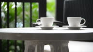 Coffee cup outdoor video