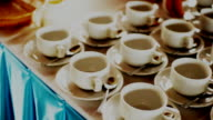 Coffee Cups on the Table video