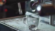 Coffee espresso preparation video