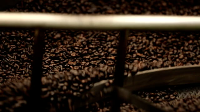 Coffee roaster cooling down video