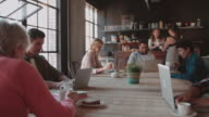 Coffee Shop With Customers Using Digital Devices Shot On R3D video