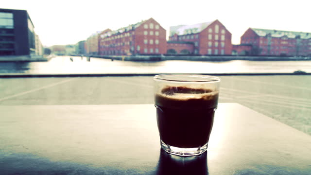 Coffee with oceanview video