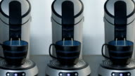 Coffeemakers making coffee video