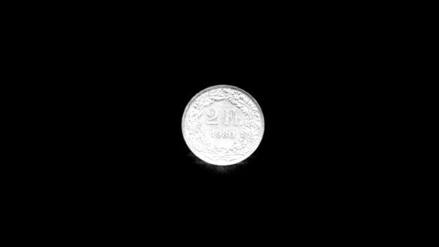 Coin Flip (Swiss Franc) HD video