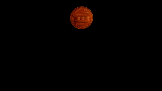 Coin Flip (US 1 cent) with Alpha video