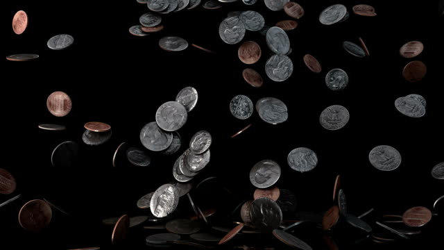 US Coins falling video