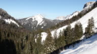 Col des Hayes Chartreuse Mountain Range 4K video