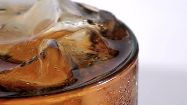 Cola and ice - rotating video