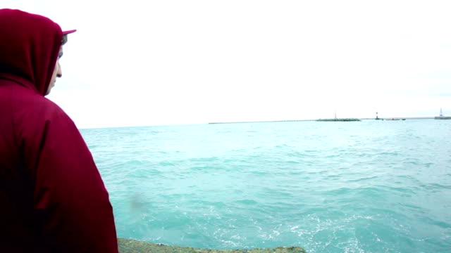 Cold ocean waves video