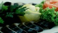 Cold starter dish. Herring video