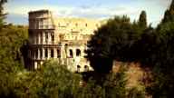 Coliseum from the Palatine hill in Rome video