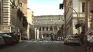 Coliseum from Via dei Serpenti in Rome video