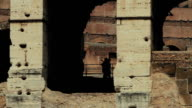 Coliseum of Rome and tourists close up video