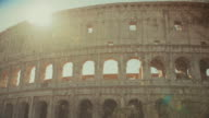 Coliseum of Rome close up and sun shining video