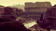 Coliseum of Rome from Vittorio Emanuele Monument video