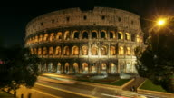 Coliseum of Rome: Night Timelapse HD Video video