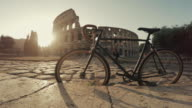 Coliseum of Rome with warm sun at early morning video