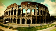 Coliseum, tourists and summer in rome video