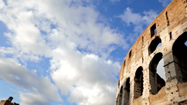 Coliseum view over the blue sky video