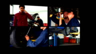 Collage of car mechanic video