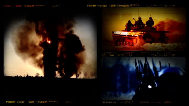 HD Collage of Military Invasion Footages video