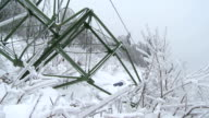 Collapsed Electricity Pylon video