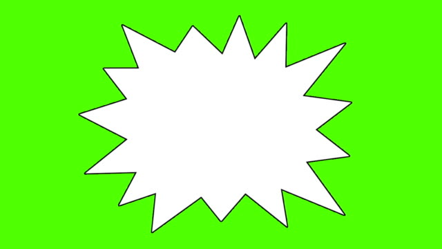 A Collection of 18 Comic Book Speech Bubbles on a Green Screen Background video
