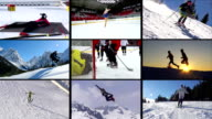 HD MONTAGE: Collection of Winter sport Action video