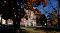 College campus in the fall video